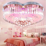 L Living room lighting atmosphere led crystal ceiling lamp heart-shaped creative bedroom lamp warm romantic wedding lighting led
