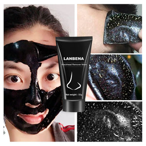 LANBENA Blackhead Remover Nose Black Mask Face Care Mud Acne Treatment Peel off Mask Pore Strip Skin Care Peel Mask - thefashionique