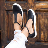 LASPERAL 2018 New Women Shoes Vintage Solid Loafers Shoes Round Toe Platform Flat Buckle Strap Casual Shoes Female Single Shoes - thefashionique