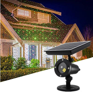 LED Solar Laser Projector Light Outdoor/Indoor Sky Star Moving Stage Showers IP55 Christmas Party Garden Lawn Light Wall Light