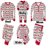LILIGIRL 2 PCS Christmas Family Matching Cotton Clothes Set 2019 New Mother Father Daughter Son Print Home Pajamas Clothing Suit - thefashionique