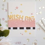 LLove CCraft WISH BIG word border Metal Cutting Dies for DIY Scrapbooking Album Paper Cards Decorative Crafts Embossing Die Cut - thefashionique