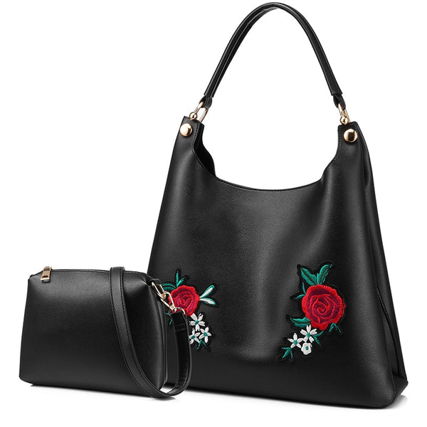 LOVEVOOK retro handbag female shoulder messenger bags for women 2020 crossbody shopping bag high quality PU with Embroidery tote