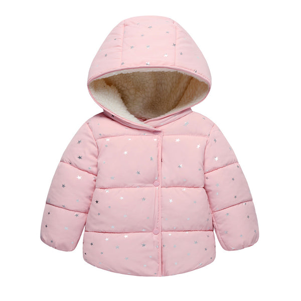 LZH Baby Girls Jacket 2018 Autumn Winter Jacker For Girls Coat Kids Warm Floral Hooded Children Outerwear Coat For Girls Clothes