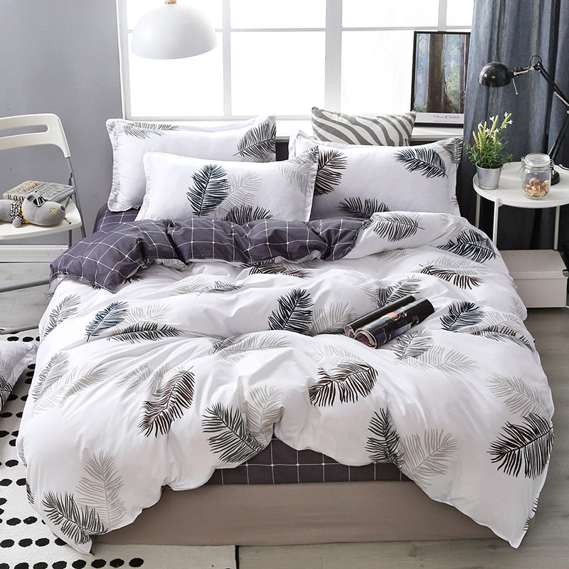 Lanke Cotton Bedding Sets King Queen Size Bed Set With Comforter