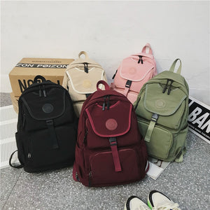 Laptop Bagpack Nylon Waterproof Travel Backbag Women Backpack Casual Big School Bags For Teenage Girls 2020 Mochila XDM0205