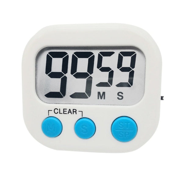 Large LCD Display Magnet Back Stand Loud Alarm Digital Kitchen Timer for Cooking Baking Sports Tools - thefashionique