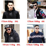 Large Size business coat add fertilizer increased Big Size male casual suit jacket loose fat 8XL fat male Leisure suit - thefashionique