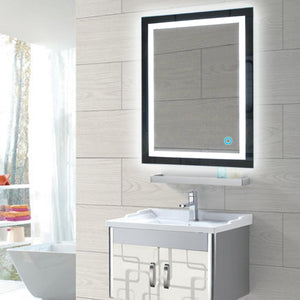 Led Backlit Bathroom Mirror Wall Mount Bathroom Makeup Mirror With Touch Button Bath Mirrors Box Diffusers Mirrors 2 Sizes HWC