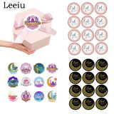 Leeiu 60pcs Colorful Paper Ranmadan Kareem Stickers Eid Mubarak Decoration Gift Box Label Islamic Muslim Party Supplies - thefashionique
