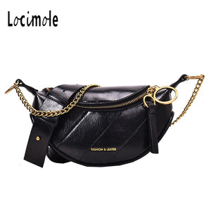 Locimole Small Chest Bag Women Crossbody Bags New Fashion PU Leather Designer Ladies Chain Shoulder Bags Luxury BIA333 PM49