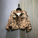 Loose Jacket Women 2020 Spring New Cool Leopord Pattern Casual Short Coat Women's BF Style Loose-Fit Jacket Fashion Jackets