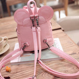 Lovable Mickey Backpack Femalle Small Bow PU Leather School Bag Cute Backpacks For Teenagers Girls Drop Shipping - thefashionique