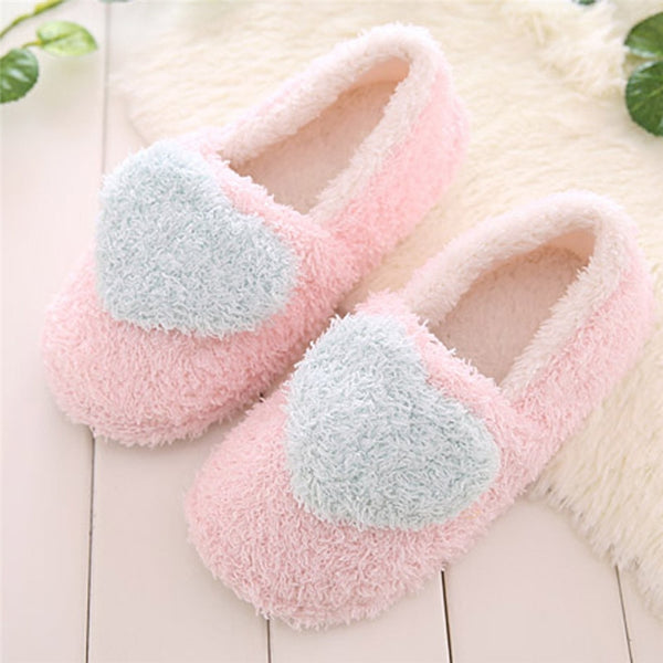 Lovely Ladies Home Floor Soft Women Indoor Slippers Outsole Cotton-Padded Shoes Woman Winter Women Slippers zapatos mujer - thefashionique