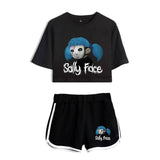 Lucky Friday Sally Face Summer Kpops Women Two Piece Set Shorts And T-shirts Clothes 2019 Hot Sale Harajuku Print Plus Size XXL - thefashionique