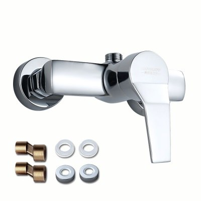 Luxury Classic Bathroom Shower Faucet Bath Faucet Mixer Tap With Hand Held Shower Head Set Two Hole Wall Mounted Bathroom Faucet - thefashionique