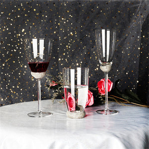 Luxury Crystal Diamond Wine Glass Goblets Champagne Flutes Glass Drink Cup Party Wedding Toasting Glass Home Drinkware 1pc - thefashionique
