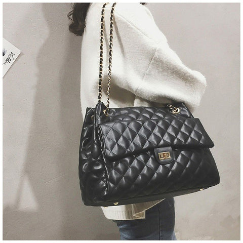 1981c86e5 Luxury Handbags Women Bags Designer Brand Tote Casual PU Leather Chain  Large Shoulder Crossbody Bags for