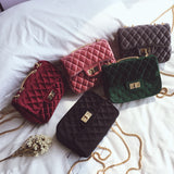 Luxury Handbags Women Bags Designer Shoulder Bags Velvet Chain Messenger Bag Small Crossbody Bags For Women 2018 Channels - thefashionique