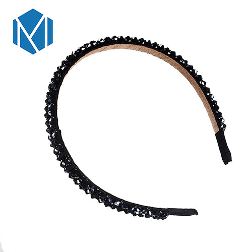M MISM Girls Shiny Luxury Rhinestone Hair Band High Quality Diamond Hair Hoop Accessories for Women Crystal Headbands Ornaments - thefashionique