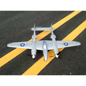 MD P38 1200mm Wingspan EPO RC Airplane Lockheed Lighting Zoom Aircraft KIT Only Fixed Wing Double Power Artificial RC Airplanes - thefashionique
