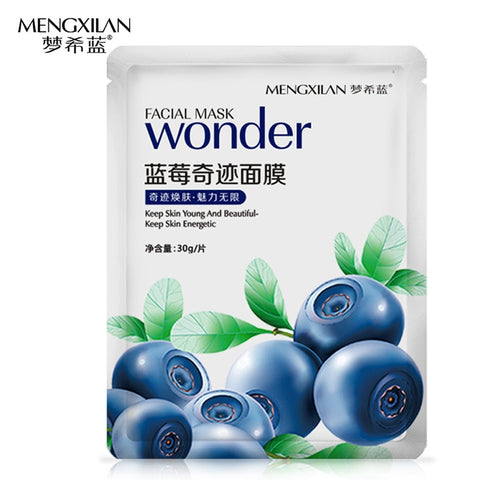 MENGXILAN  Bilberry Extract Deep Moisturizing Whitening Oil Control Face Mask Blackhead Remover Wrapped Mask Woman Skin Care