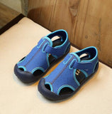 MHYONS 2018 new casual children shoes summer boys and girls sandals non-slip Baotou children breathable beach shoes - thefashionique