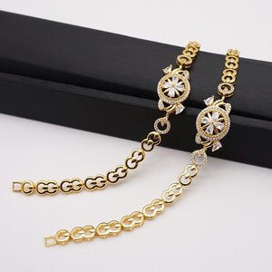 MIRAFEEL Womens Jewelry Gold Color Cute Austrian Crystal Amazing zircon Stone Fashion Bracelets