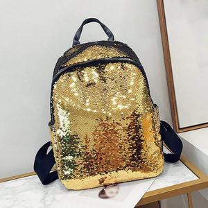 MOLAVE Backpack Fashion Girl Sequins School Backpack Satchel Student Travel Panelled Shoulder backpack women 2018JUL13 - thefashionique