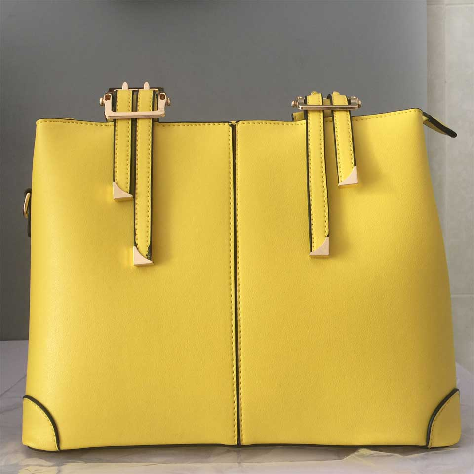 MONNET CAUTHY New Bags for Woman Elegant Classic Fashion Ladies Occident Style Handbags Solid Color Yellow Pink Green Red Totes - thefashionique