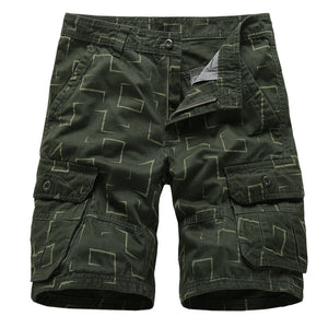 MORUANCLE Men's Casual Work Cargo Shorts With Multi Pockets Summer Tactical Short Pant For Male Beach Shorts Military Style - thefashionique