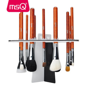 MSQ New Arrival Drying Rack Shelf 26 Holes Brush Holder Brushes Organizer Stand Accessories Comestic Brushes Aside Hang Tools - thefashionique