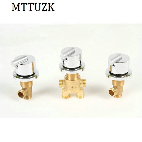 MTTUZK hot and cold water Brass switch valve for Bathtub faucet shower mixer,  bathtub set faucet ,Bath faucet control valve - thefashionique