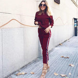 MUQGEW 2 Pieces Tracksuit Women Sweat Suits For Femme Hoodies Sweatshirt Top Pants Sets Sport Running Wear Casual Suit 2019 - thefashionique