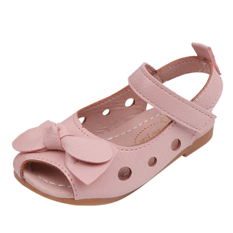 MUQGEW Kids Sandals Infant Baby Girls Sandals Bowknot Hollow Comfortable Casual Princess Shoes Sandals Casual Summer Shoes