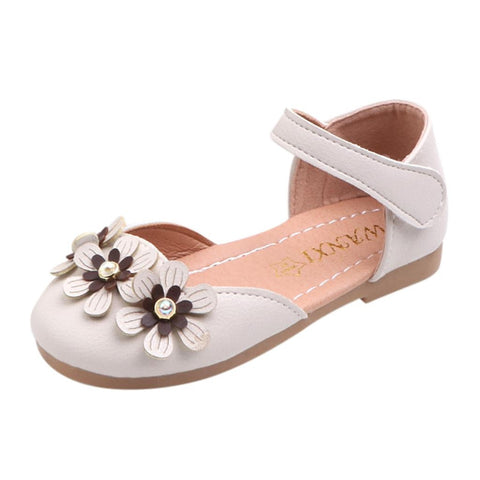 MUQGEW Kids Sandals Toddler Baby Girls Sandals Flower Single Princess Leather Shoes Sandals Comfortable Casual Summer Shoes