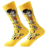 MYORED 1 pair Dropshipping men women socks cotton starry night art world famous oil painting socks unisex funny novelty socks - thefashionique