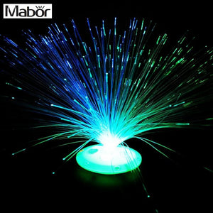 Mabor Color Changing LED Fiber Optic Night Light Lamp Stand Decor  Children Xmas Gift