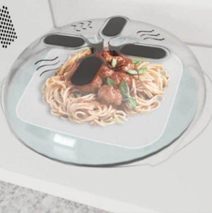 Magnetic Microwave Splatter Lid with Steam Vents Microwave Splatter Guard Cover Hover Anti-Sputtering Cover LX4961 - thefashionique