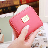 Maison Fabre Women Leather Small Wallet Card Holder Zip Coin Purse Clutch Handbag Dropshipping Mar08 - thefashionique