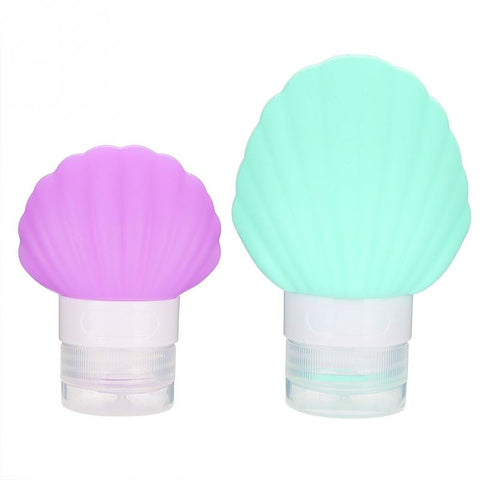 Makeup Accessories Shell Shaped Travel Packing Silicone Bottle Lotion Shampoo Bath Container Press Bottle