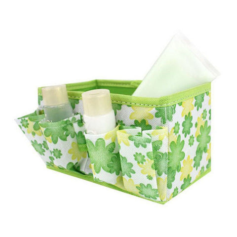 Makeup Cosmetic Storage Bag Bright Organiser Foldable Stationary Container Green Makeup Tools & Accessories MA12dropship - thefashionique