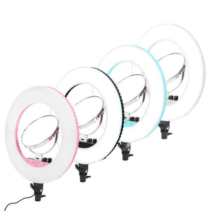 Makeup Mirrors Dimmable LED Selfie Ring Light Photography Video Live Lighting 3200K-5600K - thefashionique