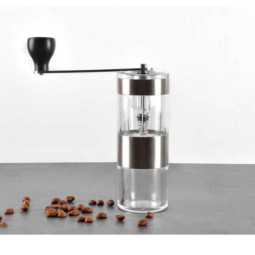 Manual Coffee Grinder Washable Stainless Ceramic Burr Portable Coffee Hand Crank Mill Kitchen Mini Manual Hand Coffee Grinder - thefashionique