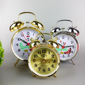 Manually-wound mechanical alarm clocks energetically lazy retro metal mechanical clockwork small alarm clock free shipping