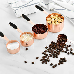 Measuring Spoon Stainless Steel Scoop Coffee Tea Cake Powder Baking Handle Durable Cutlery Spoon Kitchen Tool Acessories 5PCS - thefashionique
