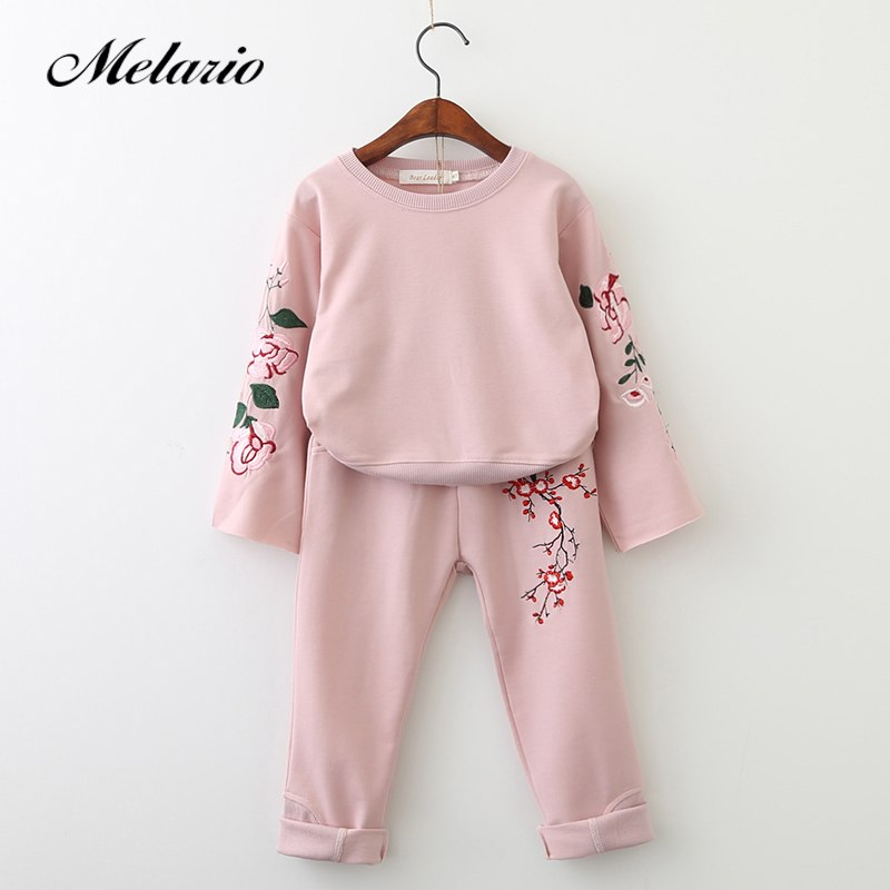 Melario Girls Clothing Sets 2018 Active Suits Girls Clothes Long Sleeve Sweatshirts+Pants Kids Clothing Sets 3-7Y Children Suits - thefashionique