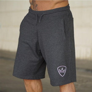 Men 2018 Summer New Loose Cotton Shorts Man Gyms Fitness Knee Length Sweatpants Male Jogger Workout Crossfit Brand Short Pants - thefashionique