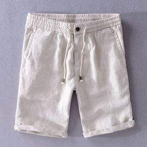 Men 2019 Summer Fashion Brand China Style Vintage Classic Solid Color 100% Linen Shorts Male Casual Loose Thin Flax Beach Shorts - thefashionique