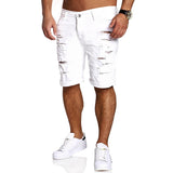Men Shorts Crossfit 2018 Spring Summer New Ripped Jeans Shorts Fashion Design Mens Popular Fashion Element Slim brand Shorts men - thefashionique